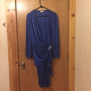 Vintage Gilberti Royal Blue Dress